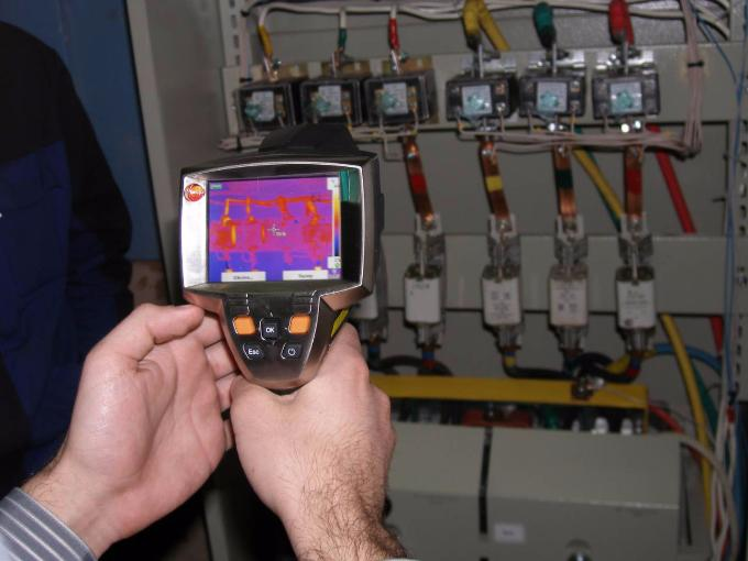 тепловизор. обследование электрического щита